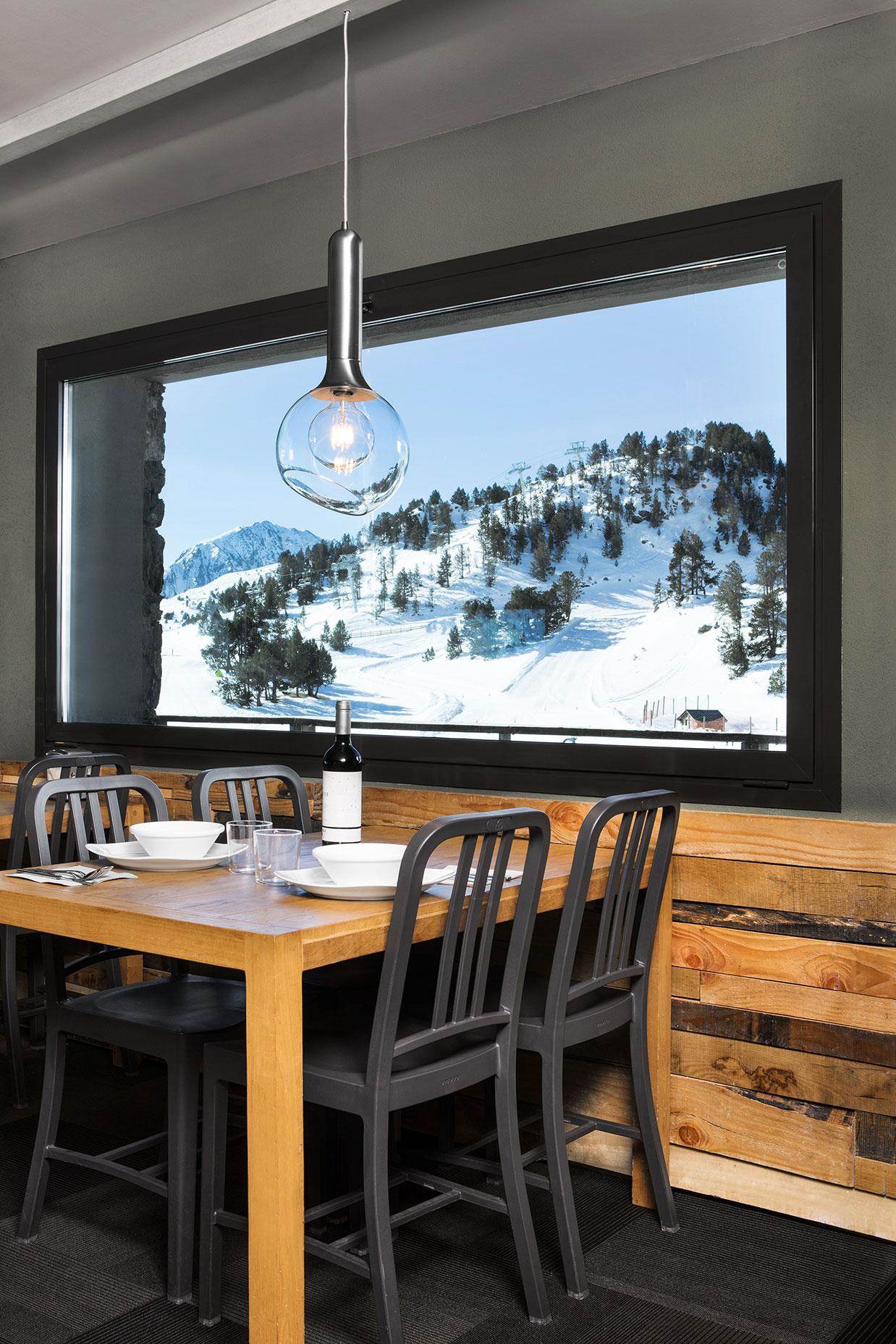 Vistas desde La Cabana restaurante Granvalira, Andorra - Rosa Colet