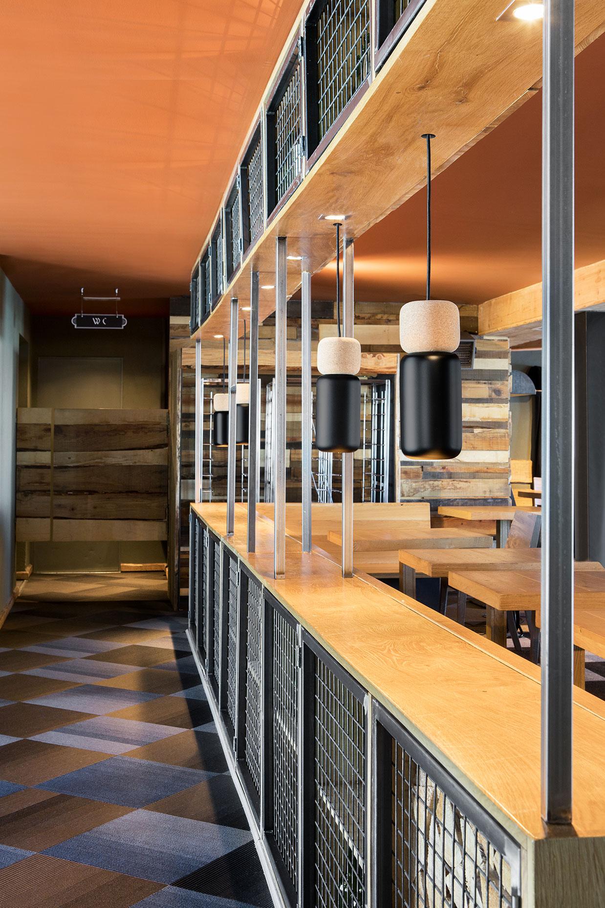 Detalle Barra La Cabana restaurante Granvalira, Andorra - Rosa Colet