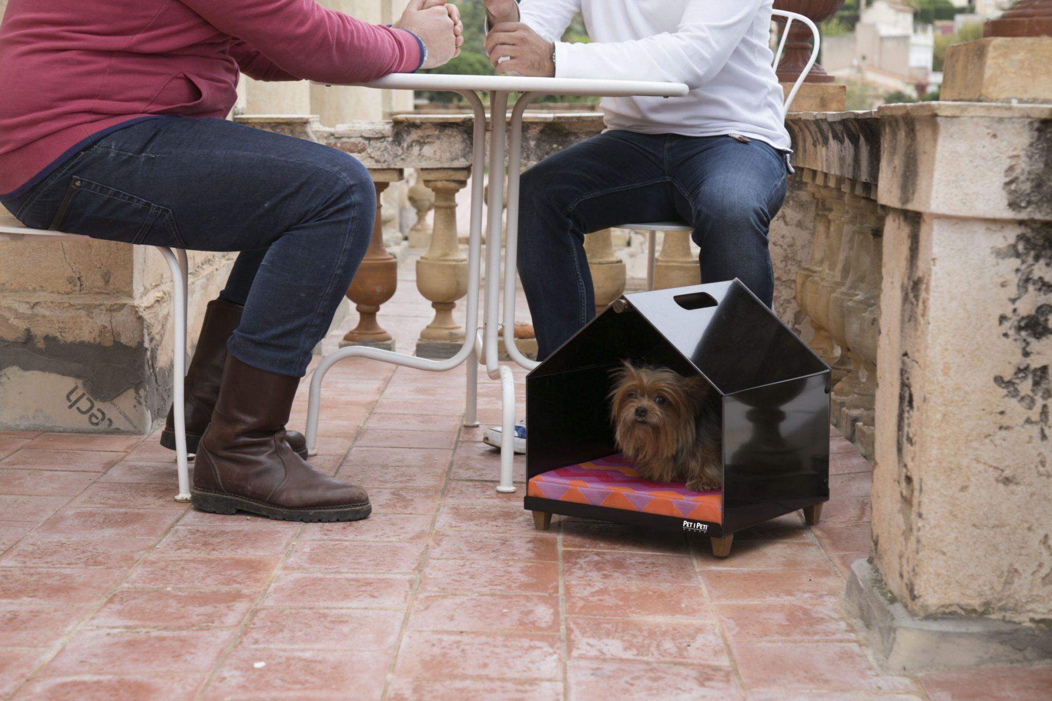 DOG HOUSE BLACK DESIGN PET PETIPETI ROSA COLET