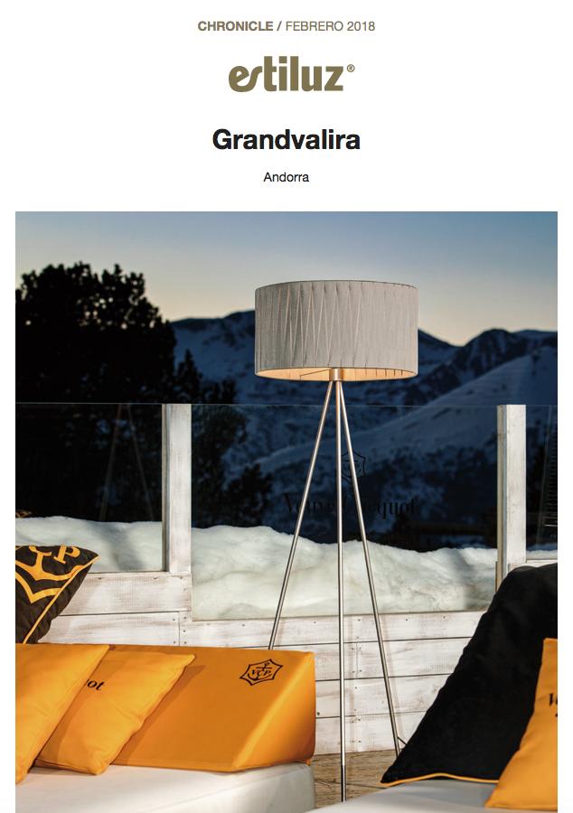 ESTILUZ EXTERIOR LAMP GRANDVALIRA ANDORRA ROSA COLET INTERIOR