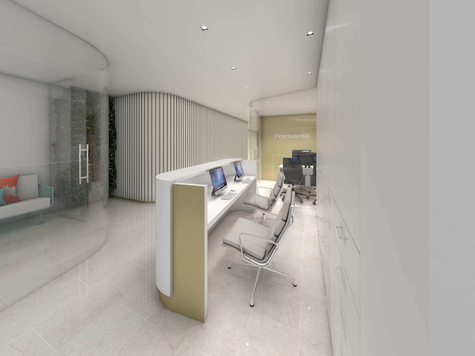 Reception Desk Pinedadental Clínica Dental Dentista - Rosa Colet Design