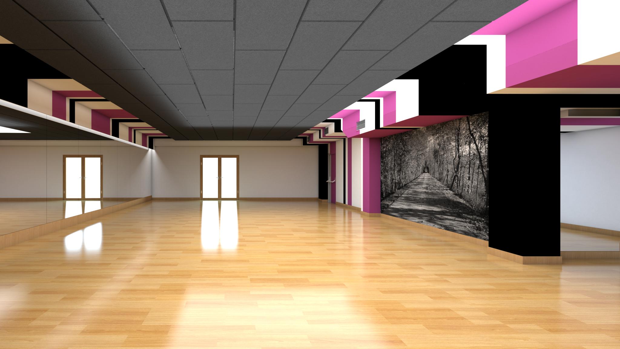Sala Fitness G2 Sport diseño por ROSA COLET INTERIOR DESIGN