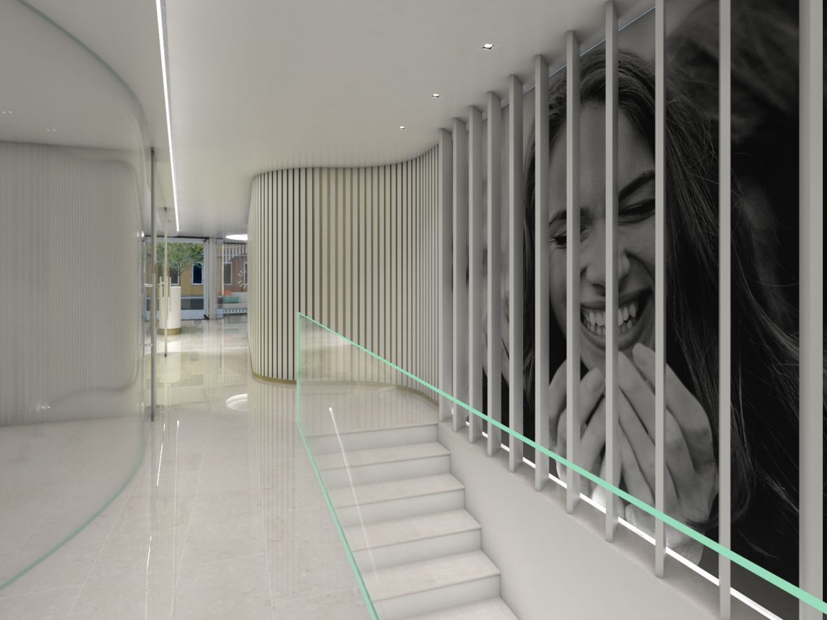 Escalera Pinedadental Clínica Dental Dentista - Rosa Colet Design