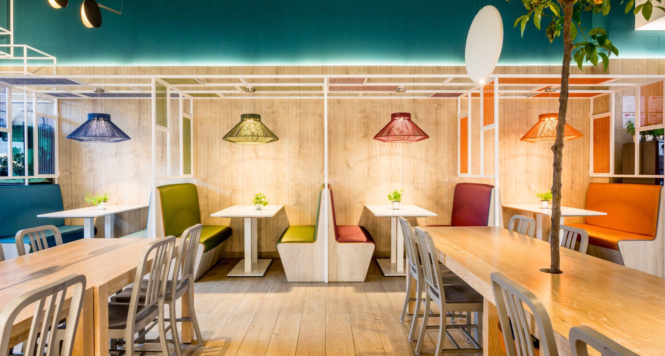 Atlantida Restaurant Mataro Parc diseño por Rosa Colet Interior