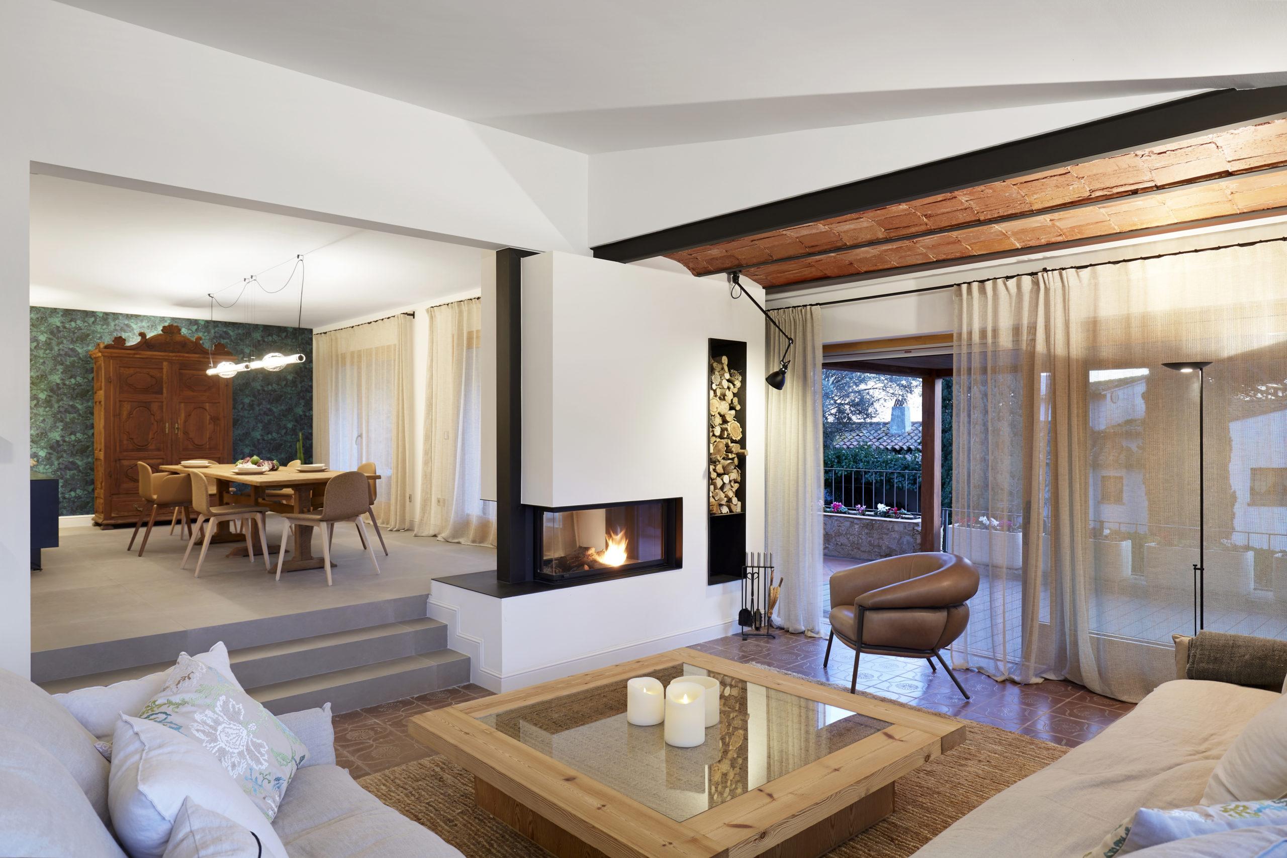 Sala de estar casa mediterranea Llafranc