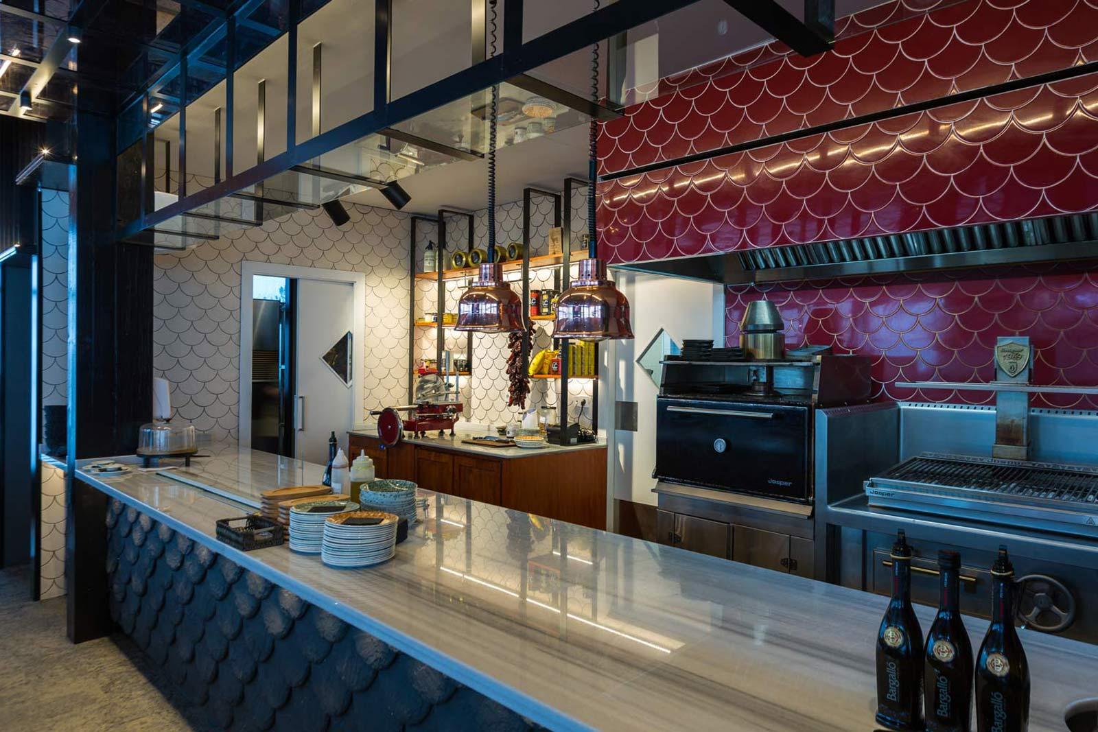Barra Restaurant Jean Leon Meat and Wine Bar Grandvalira, Andorra - Rosa Colet Design