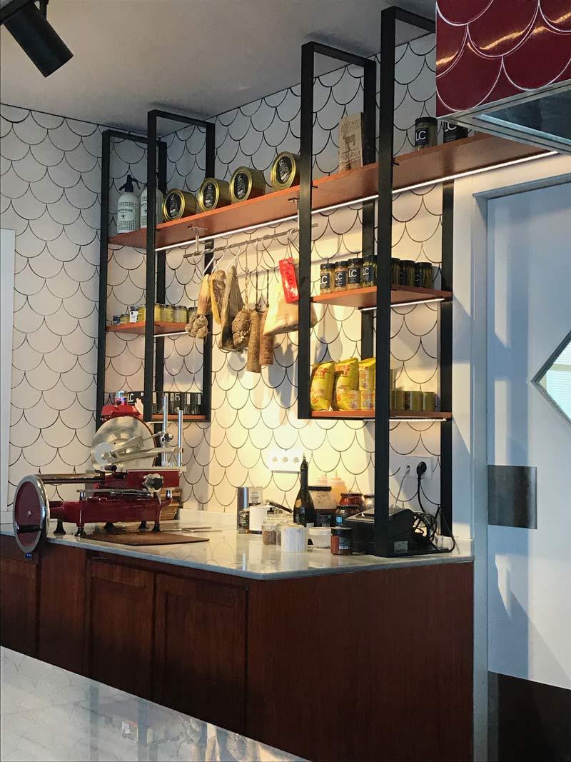 Embutidos Restaurant Jean Leon Meat and Wine Bar Grandvalira, Andorra - Rosa Colet Design