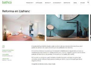 Rosa Colet diseño de baños x Bathco