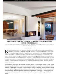 Rosa Colet en Elle Decor. Casa Holística Llafranc