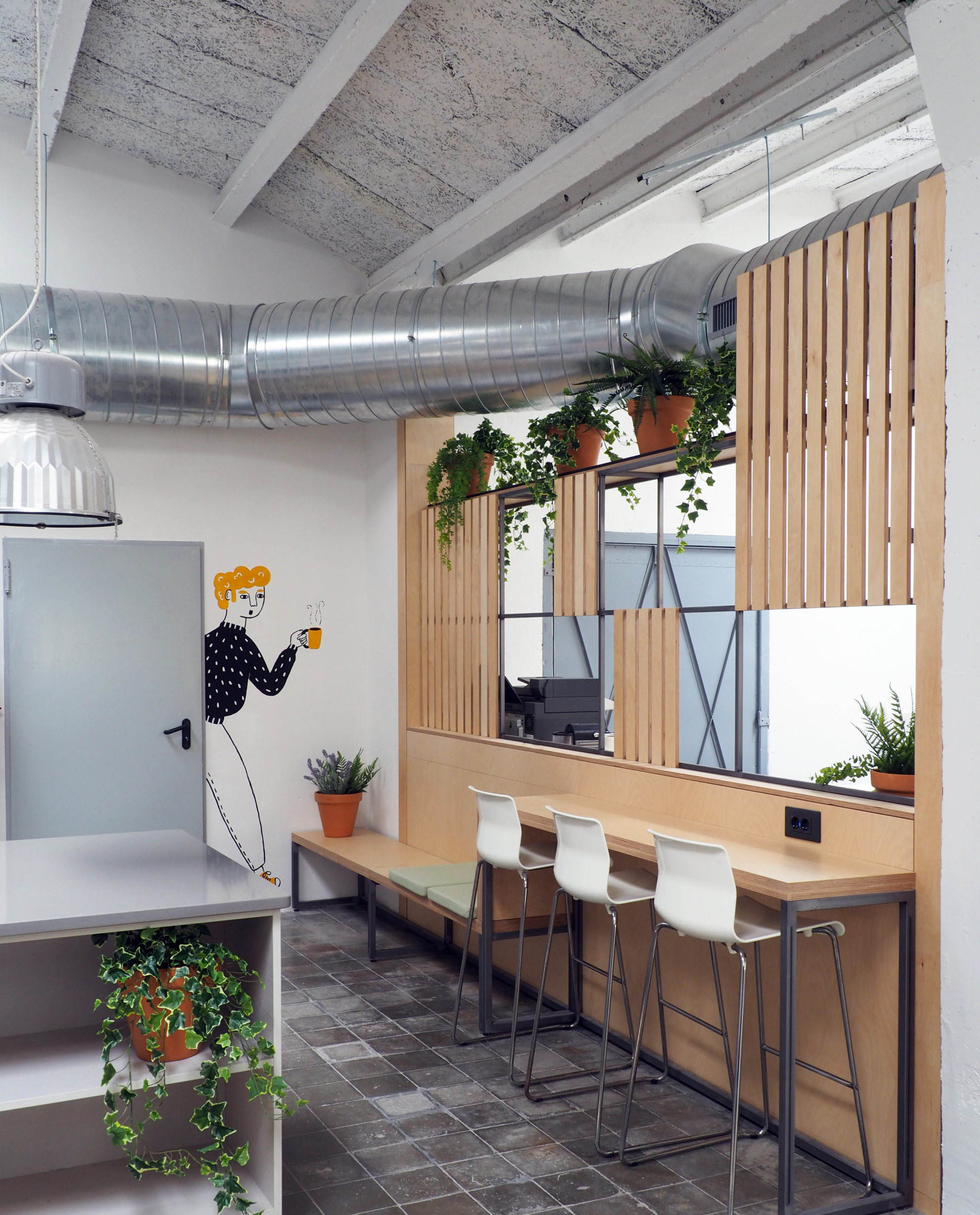 Oficinas en un loft de Barcelona by Rosa Colet Interior Design
