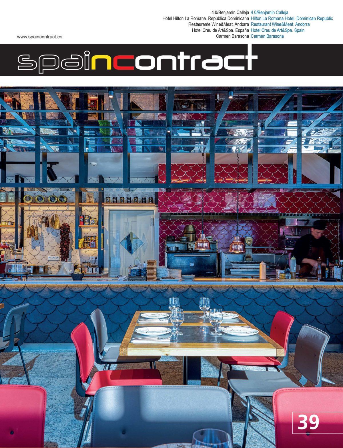 Spain contract interiorismo restaurante Grandvalira por Rosa Colet Design